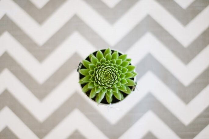 Chevron para decorar tu boda - Foto Ashley O'Dell Photography