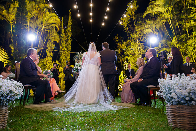 véu para noiva casamento ao ar livre