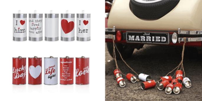 Canettes de voiture love et Canettes de voiture rétro