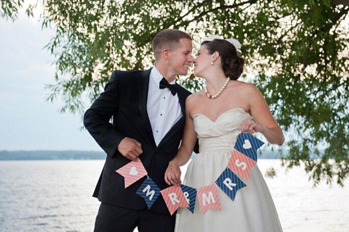 Inspiración en marino y coral para una boda única - Foto Alice g Patterson Photography