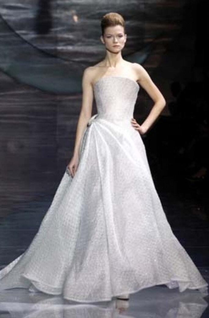 Robe de mariée Armani 2011 :  le créateur de la robe de Charlene Wittstock