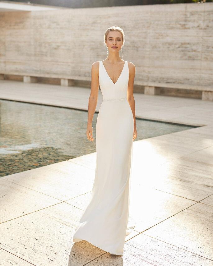 Vestido de novia sencillo Rosa Clará