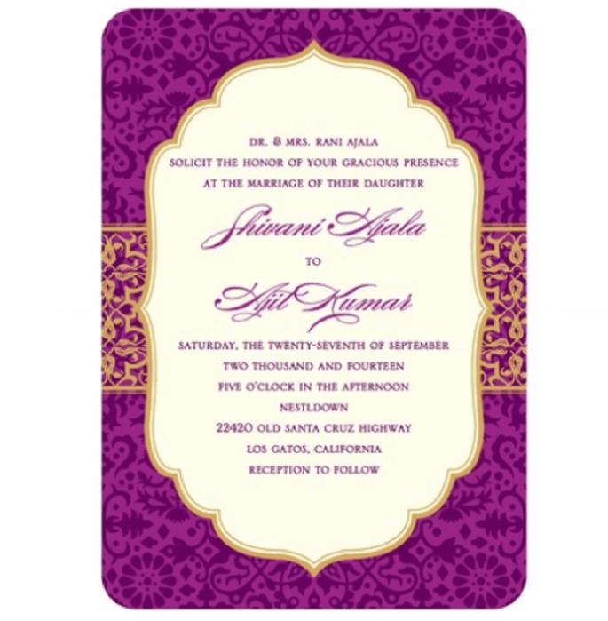 Invitación de boda vintage adornada con colores brillantes - Foto Wedding Paper Divas