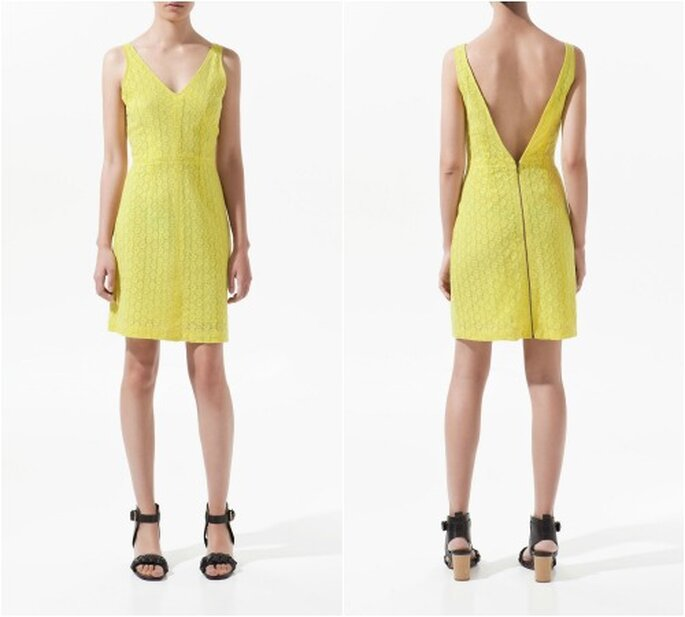 Kleider in der Farbe Gelb sind 2013 stark im Kommen – Fotos: Zara.com