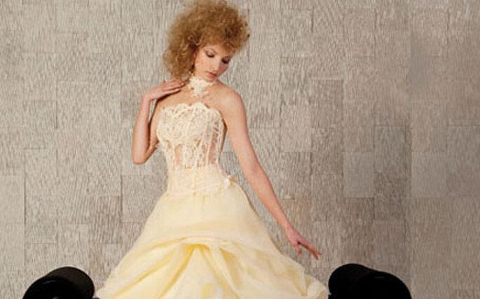 robe de mariée jaune 2013