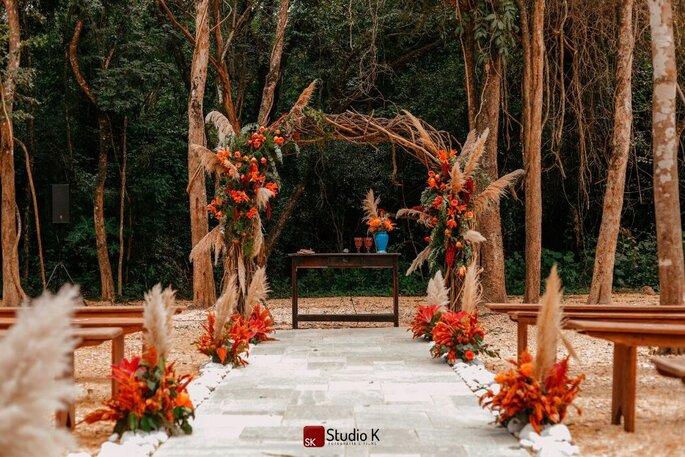 decoração casamento rustico