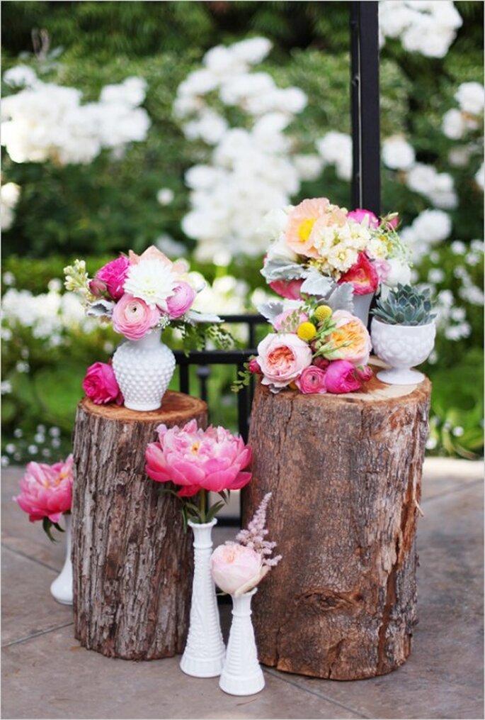Bei Hochzeiten 2014 dürfen Texturen und Farben bunt gemischt werden - Foto Leila Peterson
