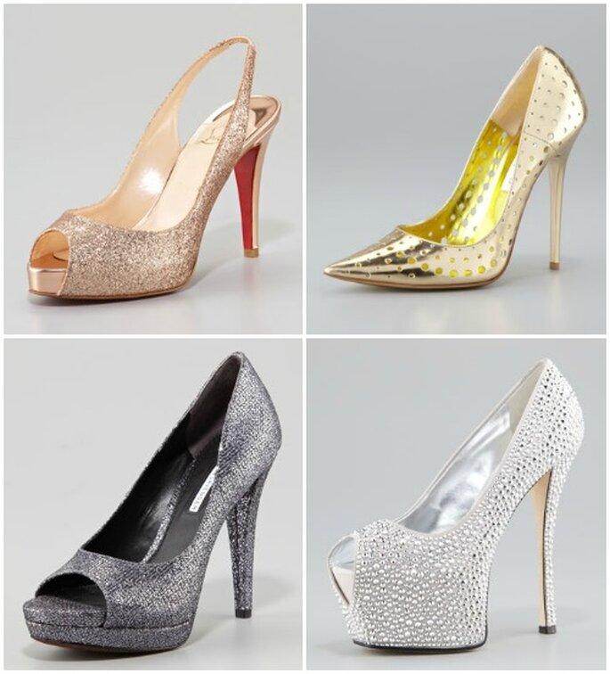 nombreux dans la variété véritable bon ajustement Sposa o invitata, scegli una scarpa gioiello per il ...