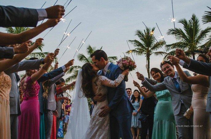 beijo noivos casamento