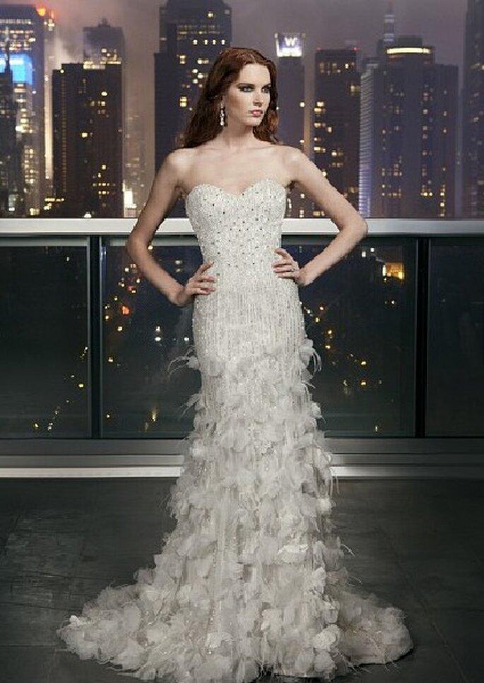 Vestido de novia de Justin Alexander 2012. Foto: Justin Alexander