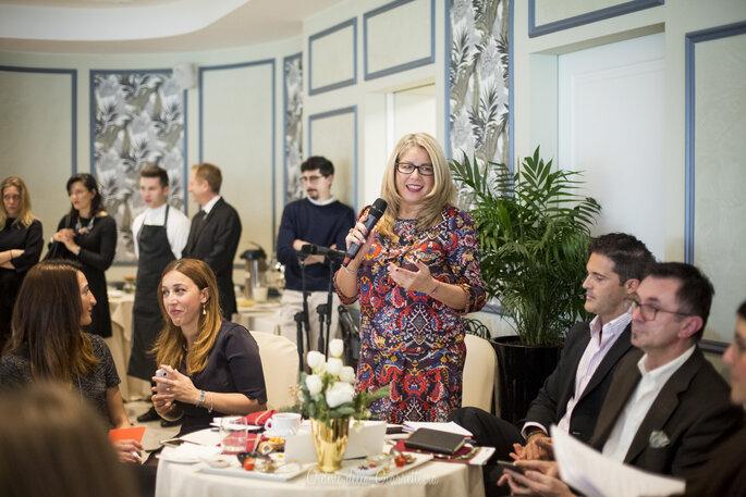 L'esperienza ventennali di Nataly di NOB Eventi offre spunti a tutti i presenti in sala