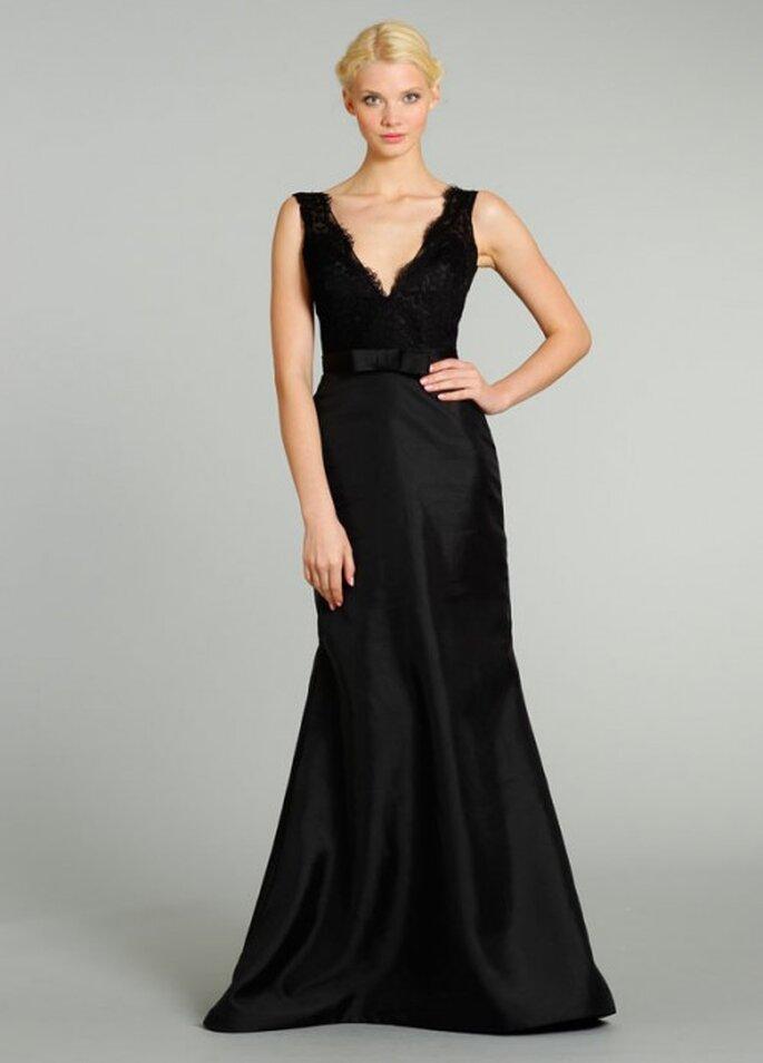 Vestido de gala color negro para damas de honor - Foto Noir by Lazaro