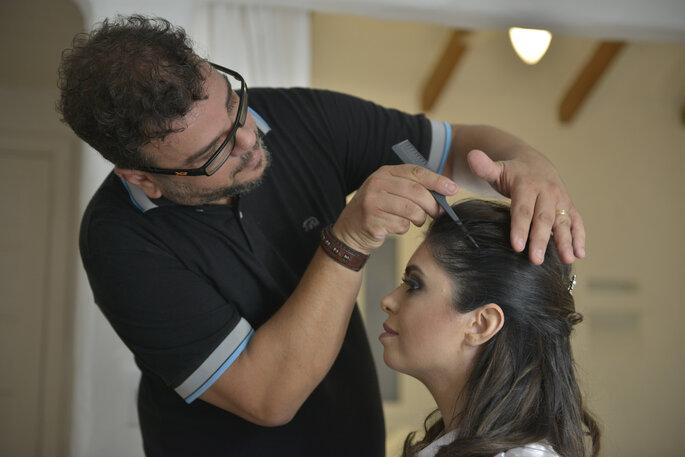 cabelo e maquiagem da noiva