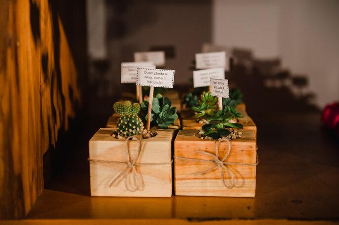 Plantinhas de lembrancinha do casamento