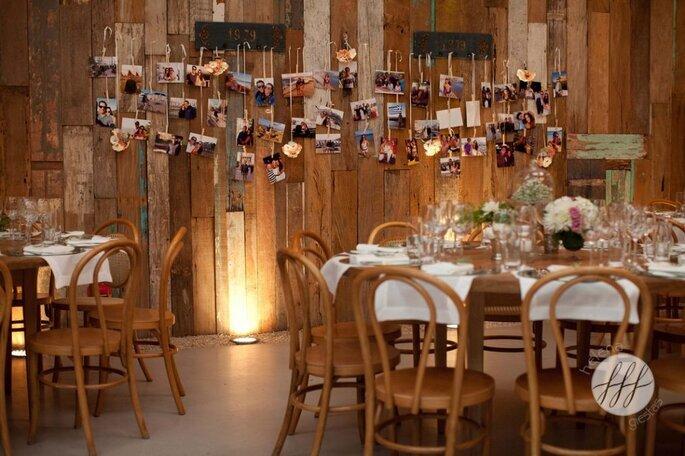 Decoração rústica para festa de noivado
