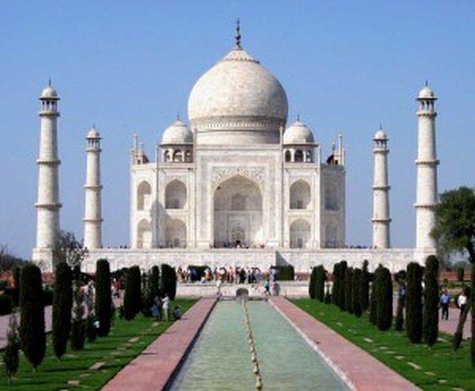 El Taj Mahal en la India...