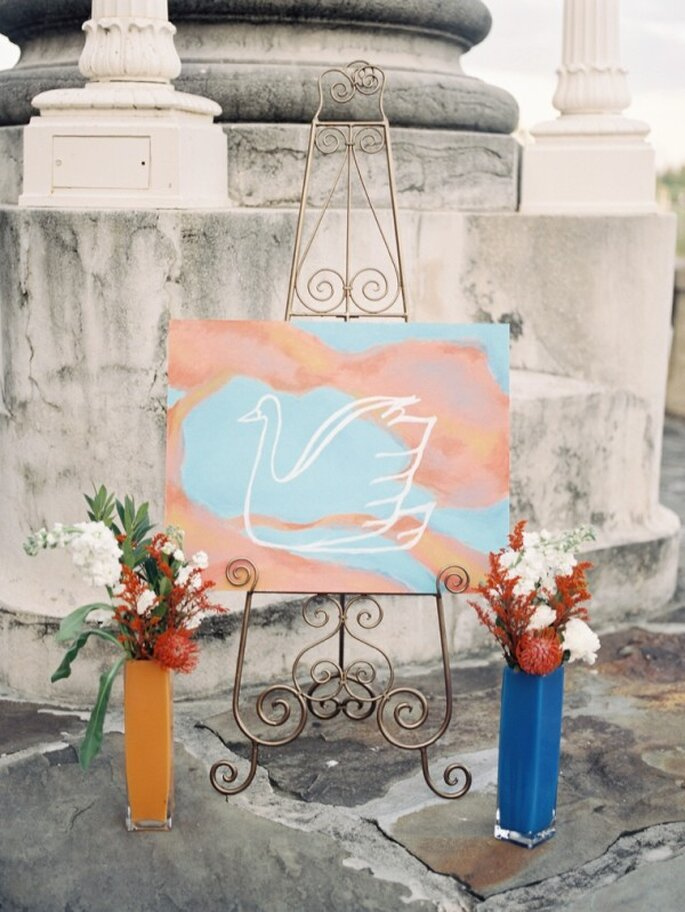 A watercolour inspired wedding - Photo: Kat Braman