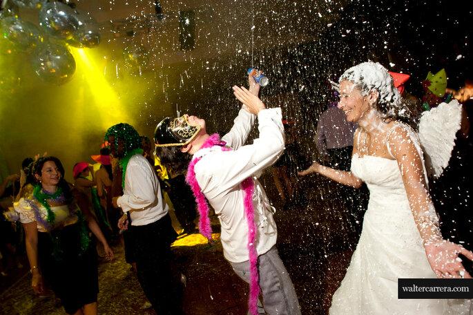 Fiesta de boda temática. Foto: Walter Carrera