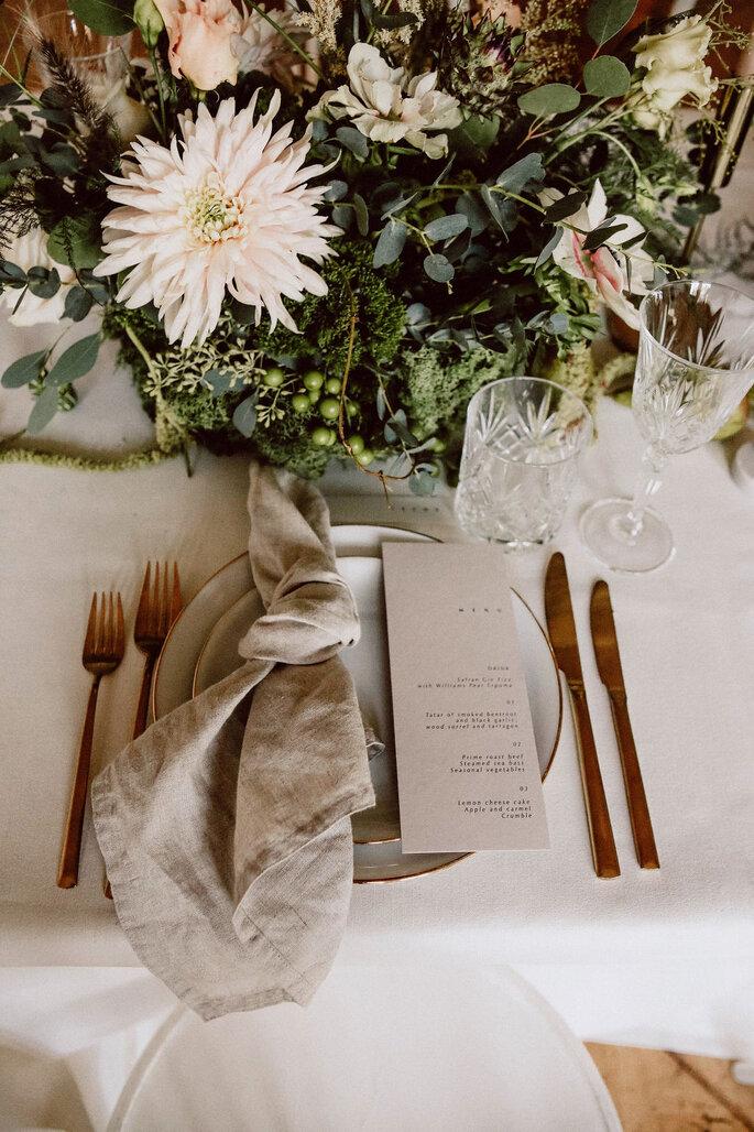Minimony Hochzeit Tischdekoration