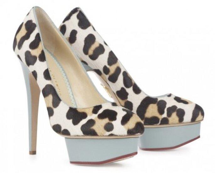 Zapatos de novia estampados de leopardo - Foto Charlotte Olympia Bridal