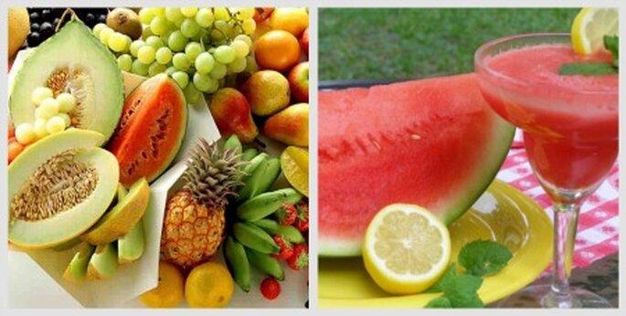 Frutas en tu boda de verano