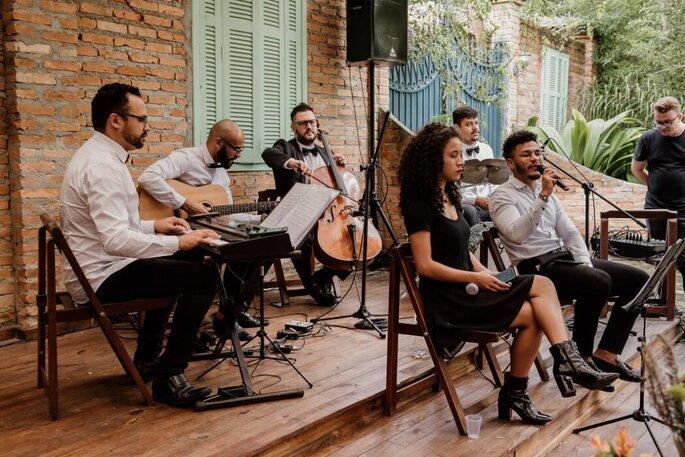 Música cerimônia ao ar livre