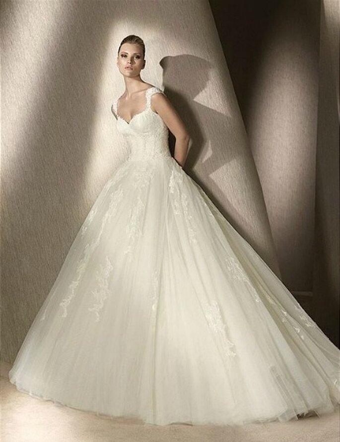 Vestido de noiva com tule da coleção San Patrick 2012 foto: divulgação