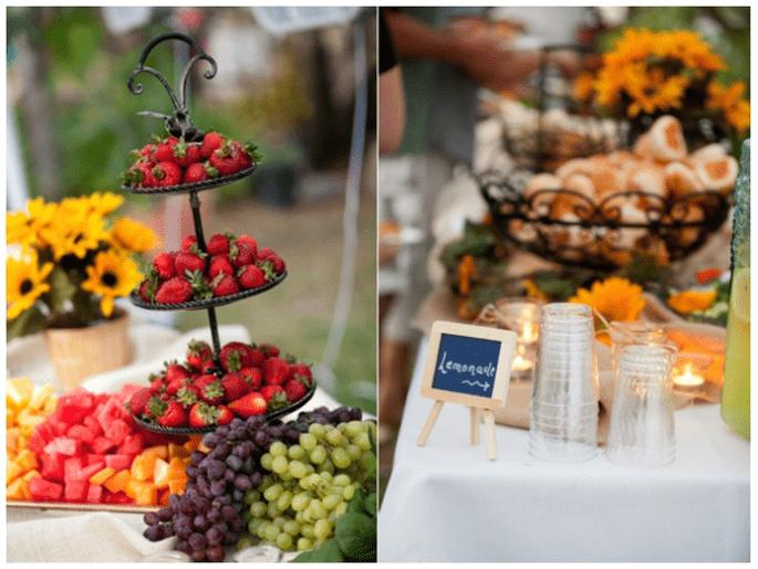 Fruits in your wedding decor - Photo: Kim J Martin Photography