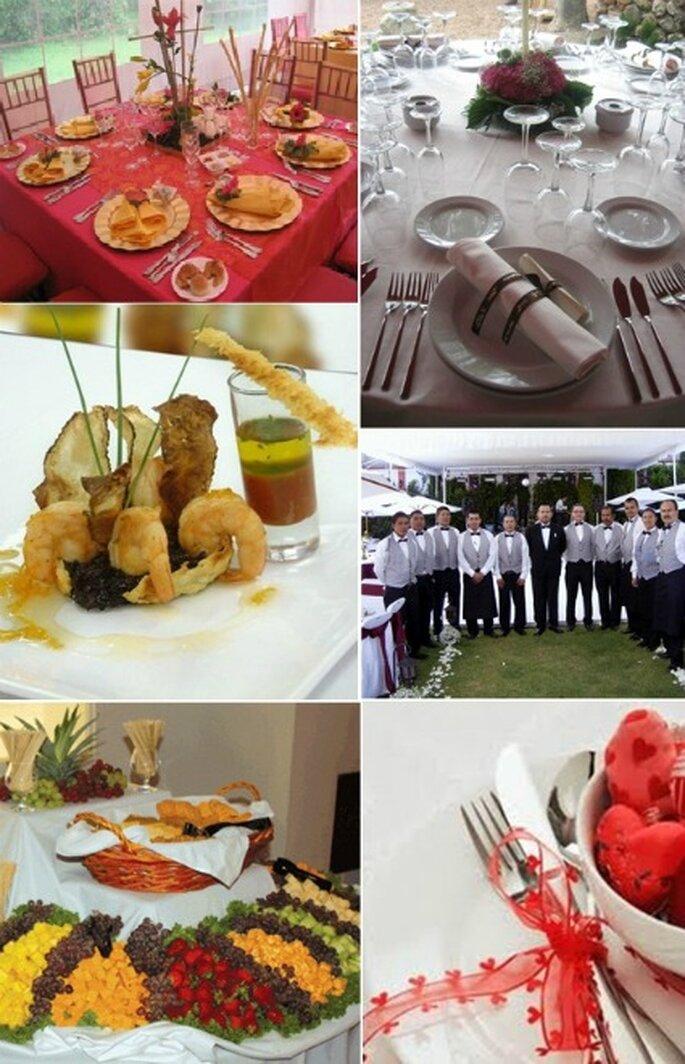 Algunos de los servicios que obtiene al contratar una empresa de catering son alimentos, bebidas, cristalería, meseros, vajillas, aseo entre muchas más.