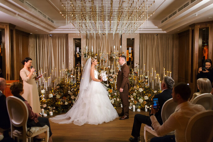 Тепло внутри: свадьба Софии и Дмитрия поздней осенью