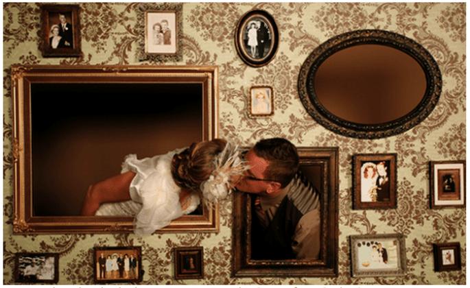 Elige los marcos que vayan con el estilo de tu boda - Foto Elizabeth Messina