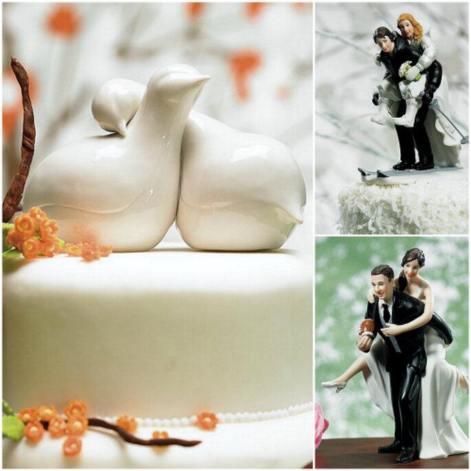Figuritas de loza y porcelana clásicas, de Pink Frosting y My Dream Wedding