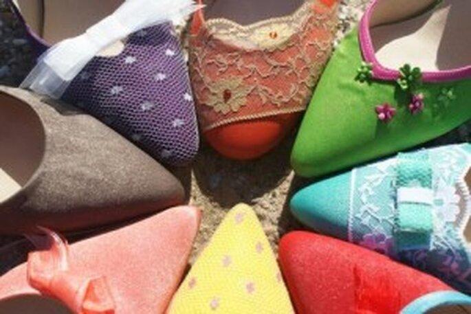 Nueva colección de zapatos de novia de colores - Mademoiselle Rose