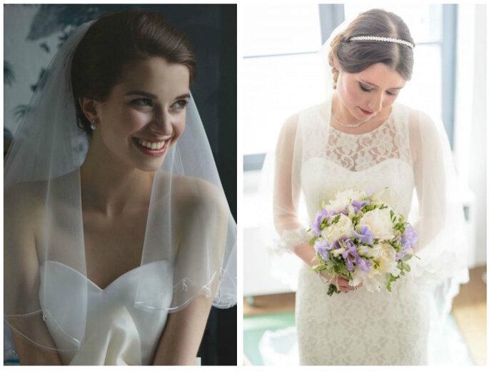 Photo à gauche : Mrs Bobby Pins / Photo au centre : Instant précieux / Photo à droite : Atelier Coquette