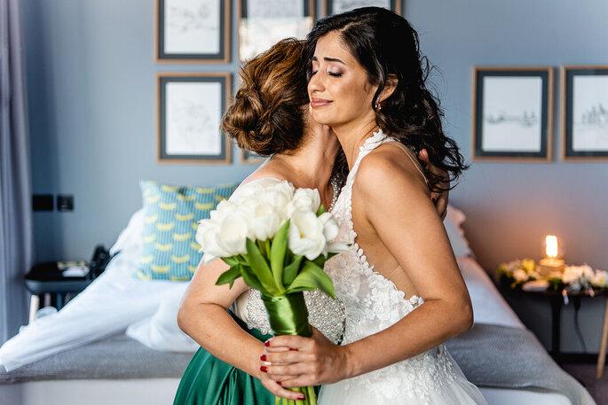 Momento emotivo com a noiva
