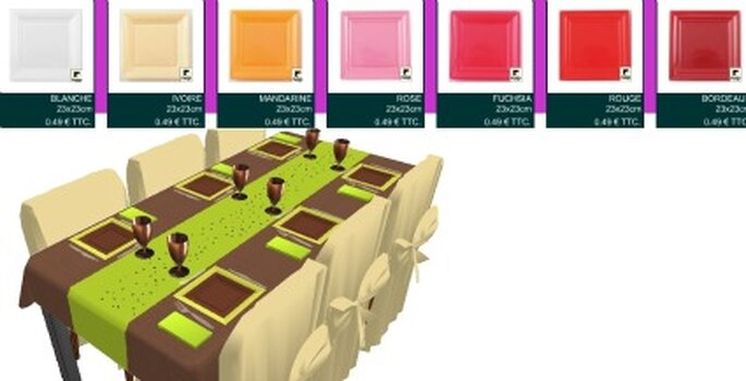Table vert anis et marron - Composezvotretable.com