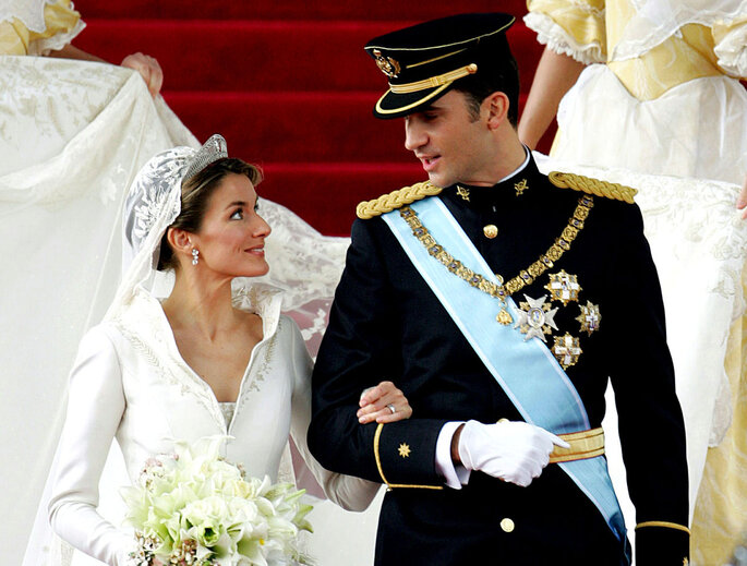 Casamento dos actuais reis de Espanha - Via Pinterest