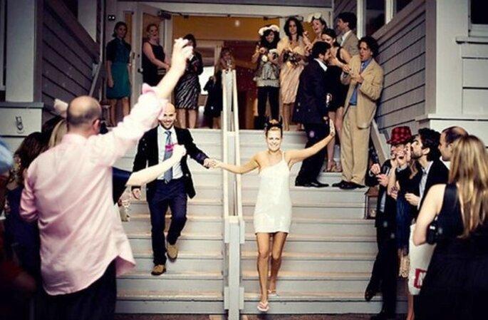Robe de mariée courte le Jour J : on adhère ! - Photo : Millie Holloman
