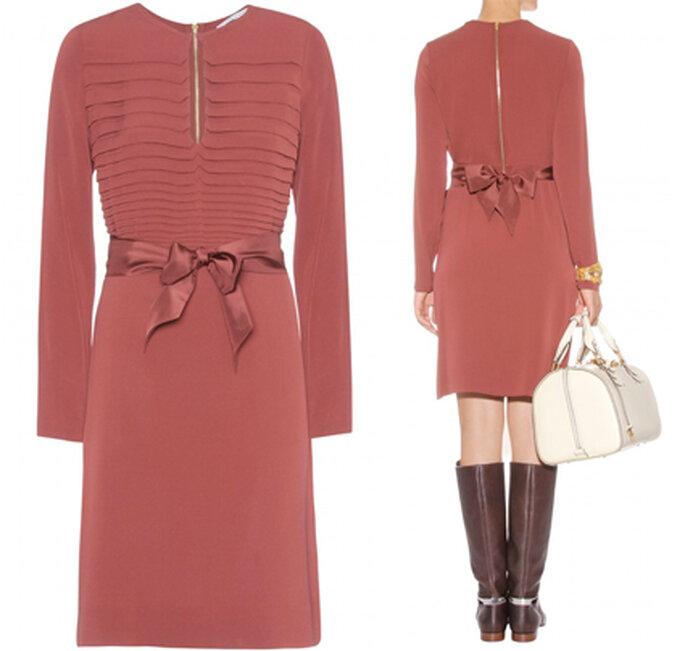 3 Ziegelrotes Seidenkleid aus der Kollektion von Diane von Fürstenberg.
