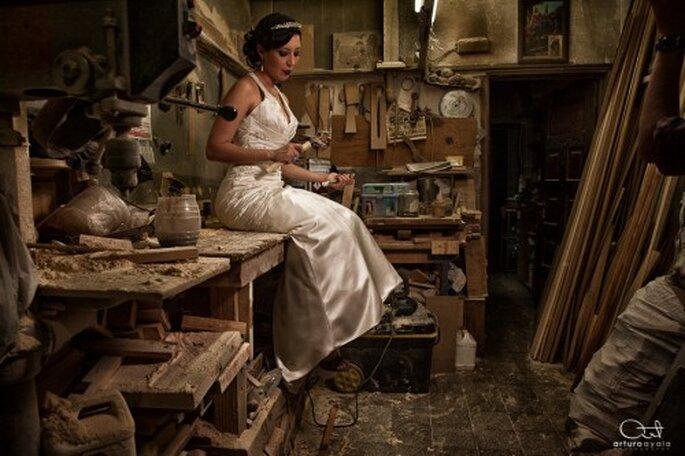 Elige escenarios rústicos y originales para tu sesión de fotos Trash the Dress - Foto Arturo Ayala