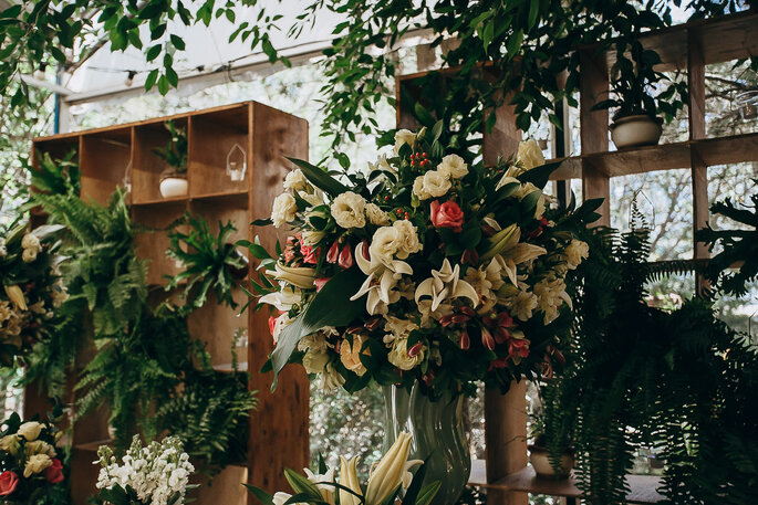 decoração de casamento rústico-chique
