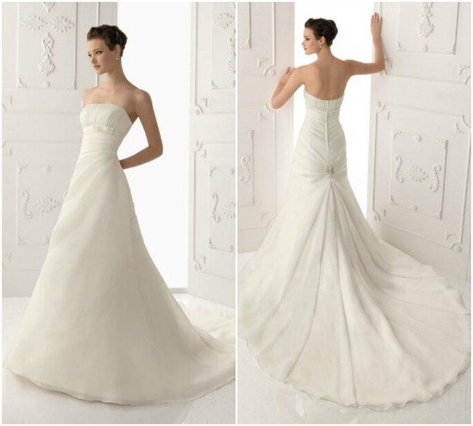 Schlichte Brautkleider verzaubern mit ihrer Einfachheit – Foto: Alma