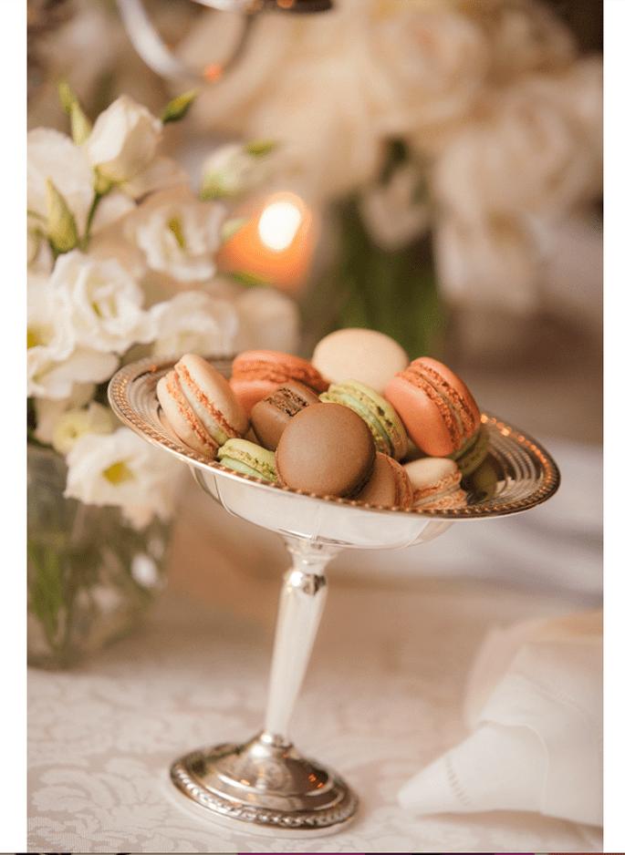 Macarons para el postre de tu boda - Foto Kelly Brown