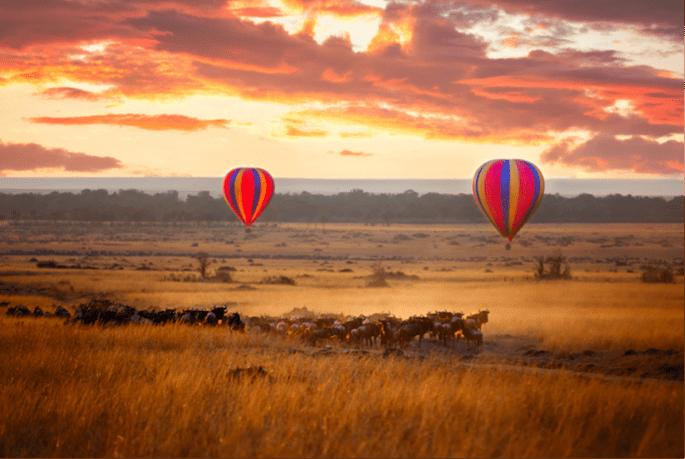 Heißluftballon in Kenia