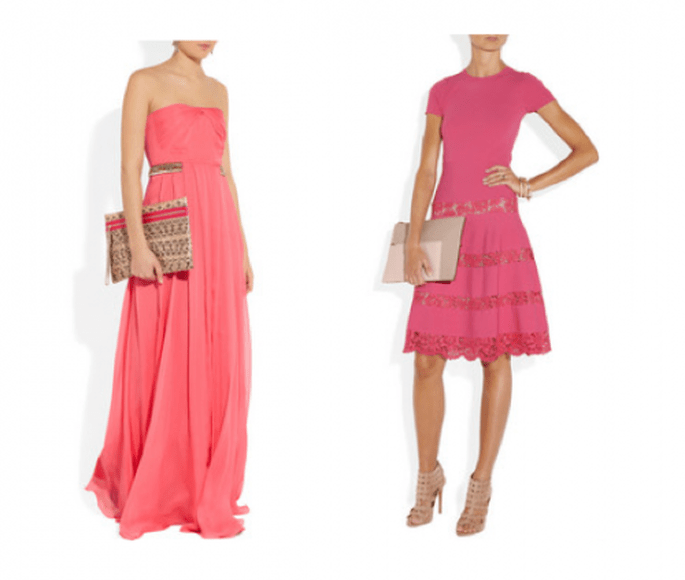 Vestidos para damas de boda en color rosa intenso - Foto Net A Porter