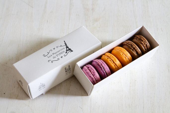 """Nuevos invitados a la mesa de dulce de tu boda, los """"macarons"""". Foto: Les macarons de París"""