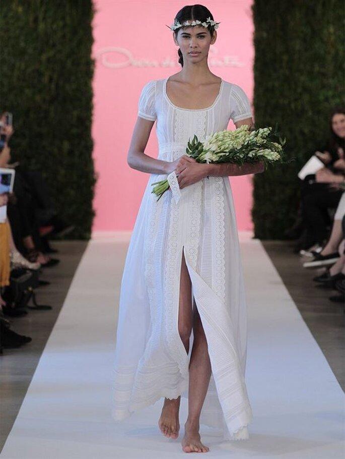 Vestido de novia estilo hippie de Oscar de la Renta - Colección Primavera 2015. Foto: www.oscardelarenta.com