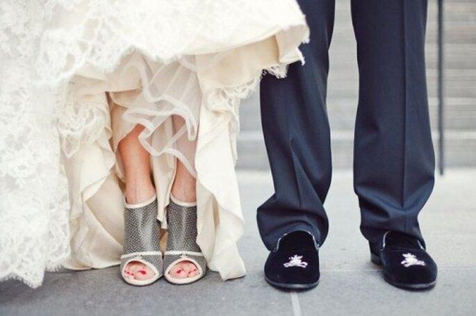 Zapatos de lujo para una novia vanguardista
