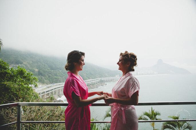 Noiva e sua mãe