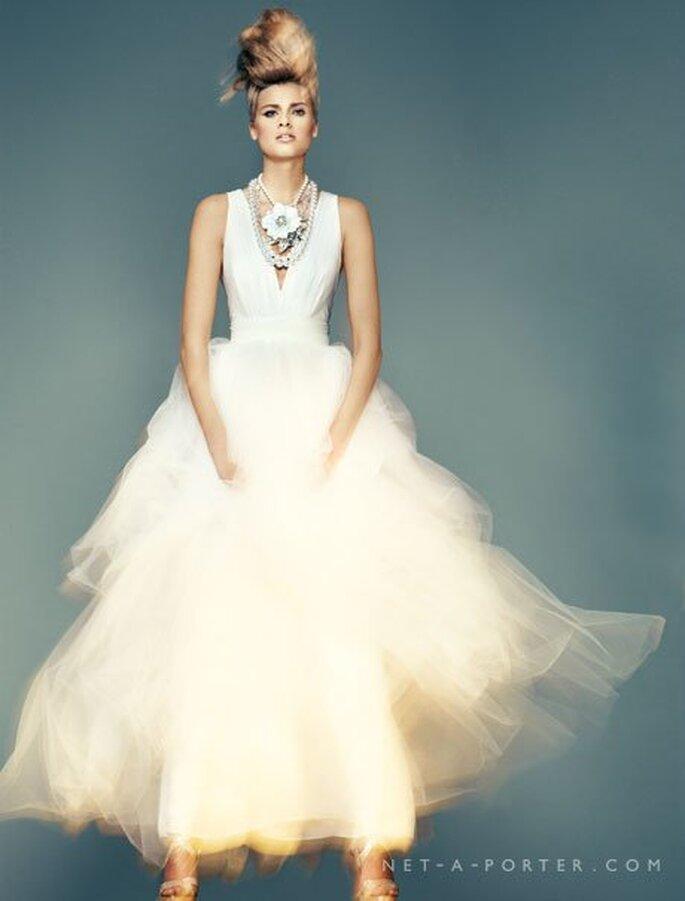 Voluminöse Röcke bei Brautkleidern. Brautkleid Jason Wu.